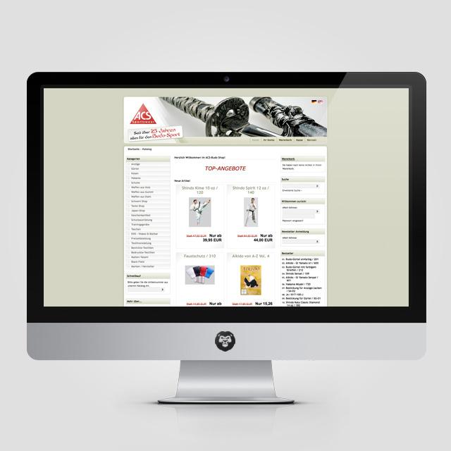 ACS Budo Internetseite Referenzen