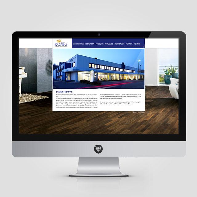 Fussboden-König Internetseite Referenzen