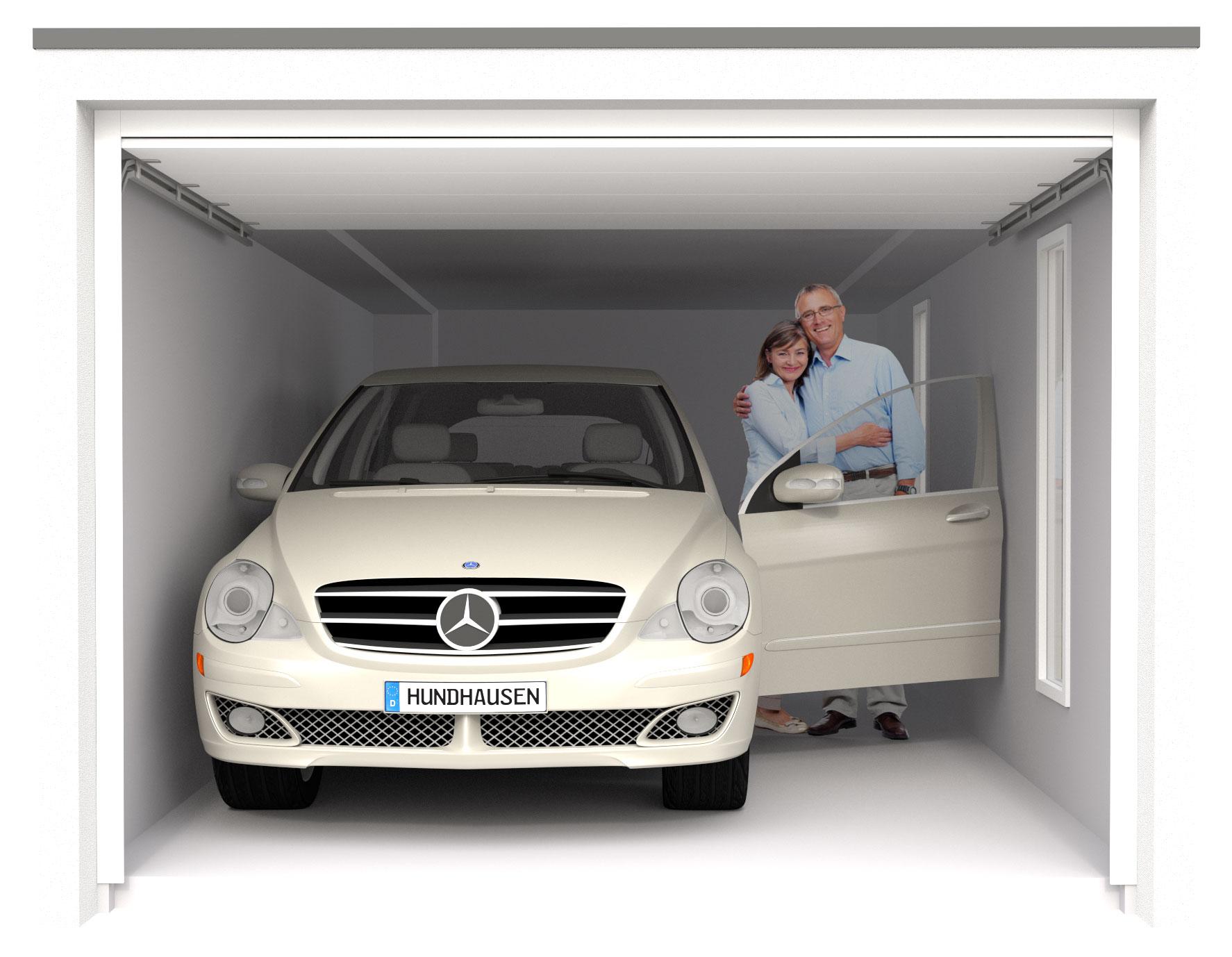 garage mit auto von vorne mit paar beim auto Referenzen als 3-D visualisiert